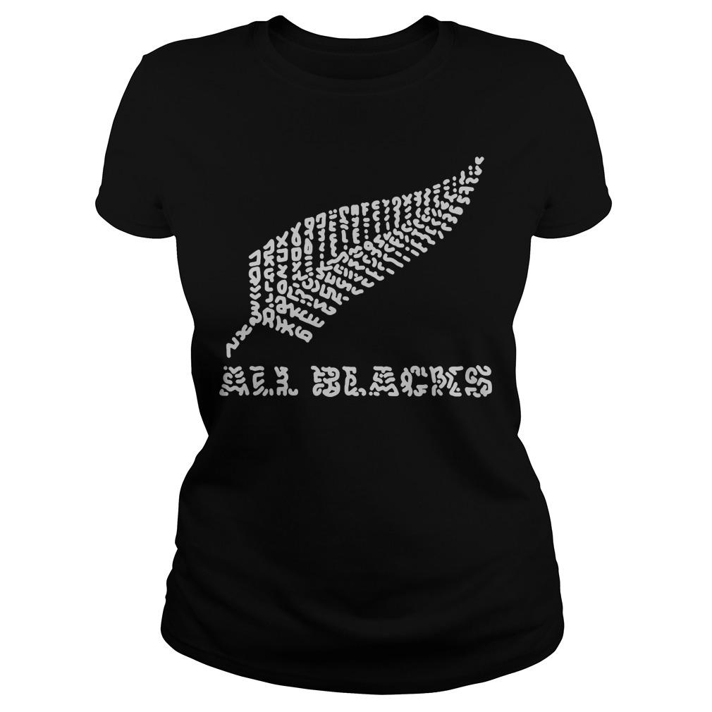Rugby Team Blacks New Zealand Ladies Tee