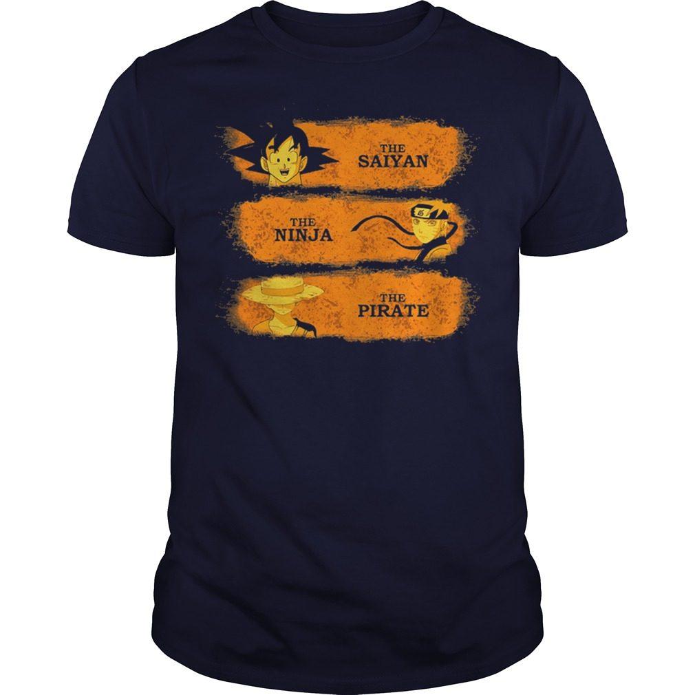 Saiyan Ninja Pirate Shirt