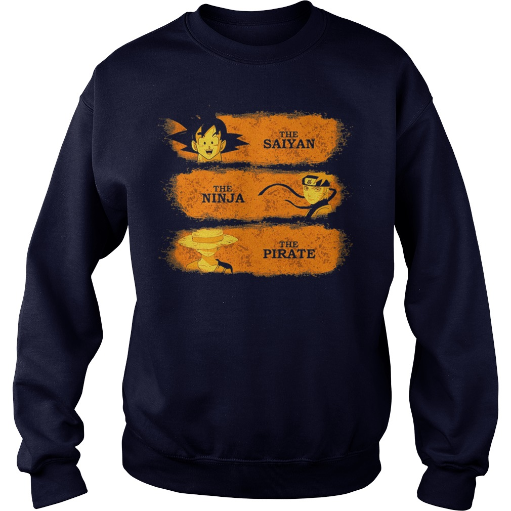 Saiyan Ninja Pirate Sweater