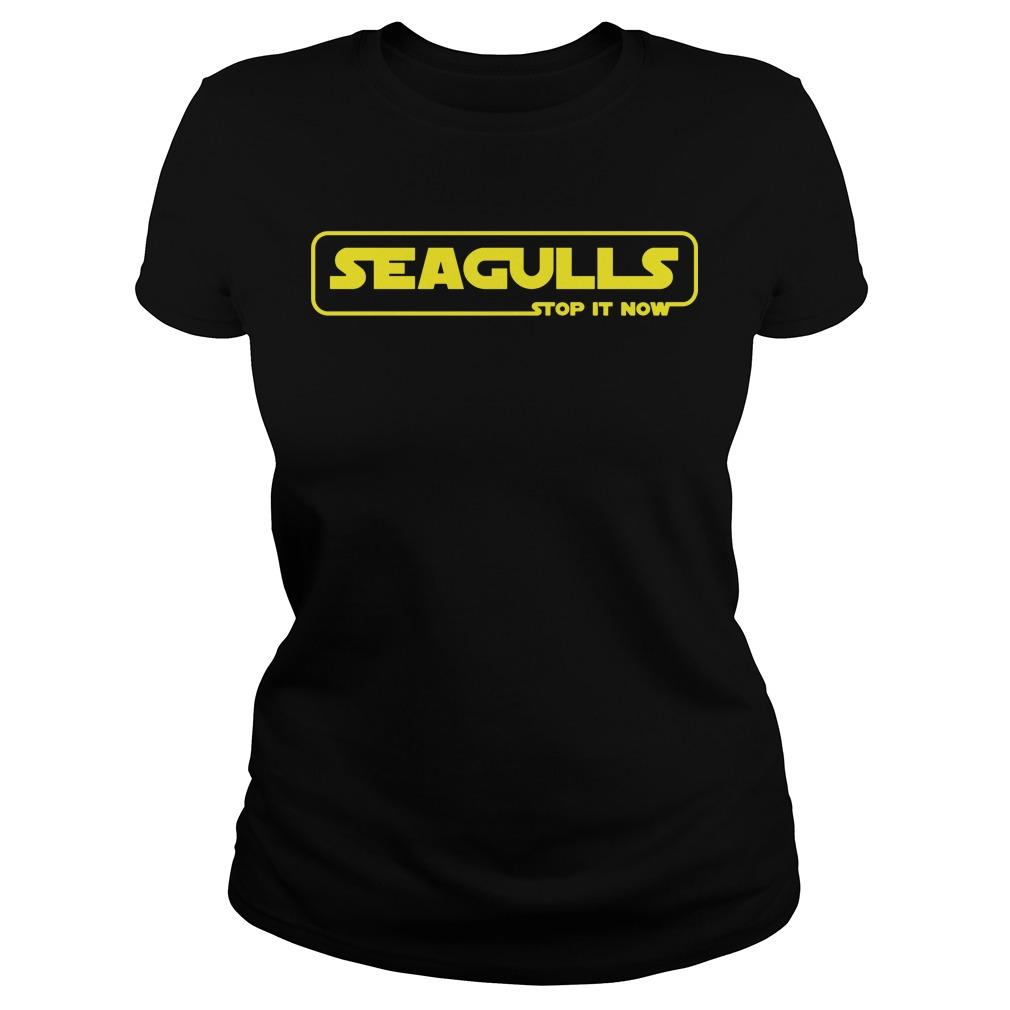 Seagulls Episode 1 Stop Now Ladies Tee