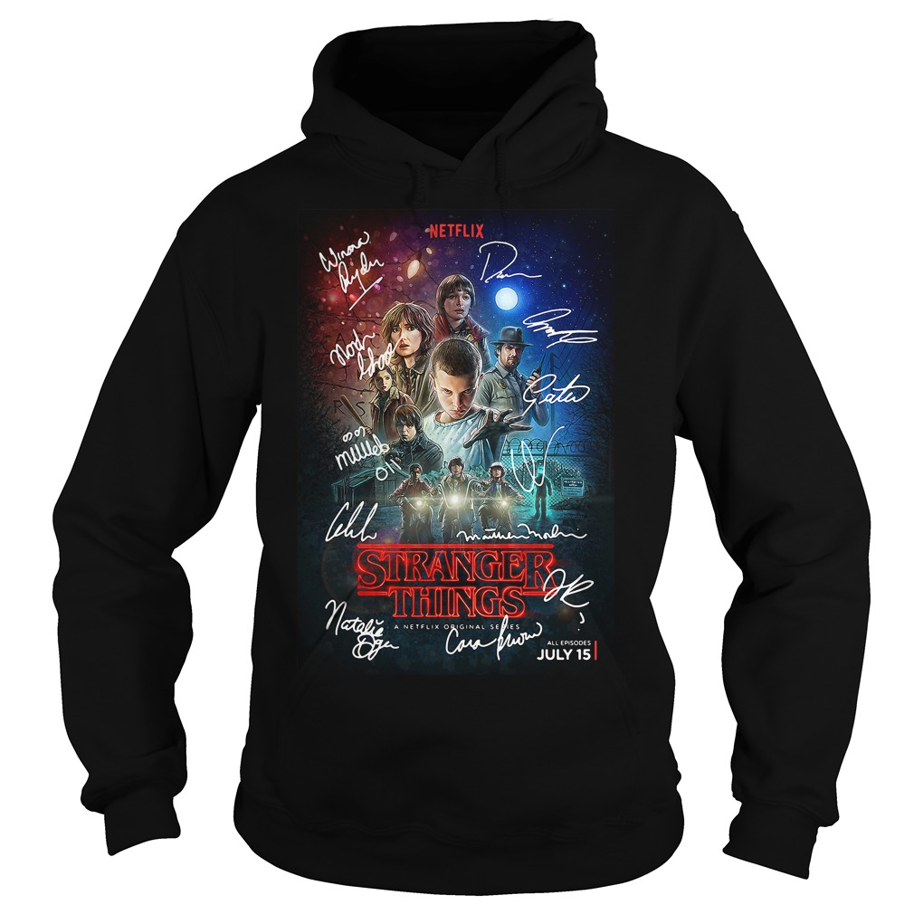Signed Stranger Things Poster Hoodie