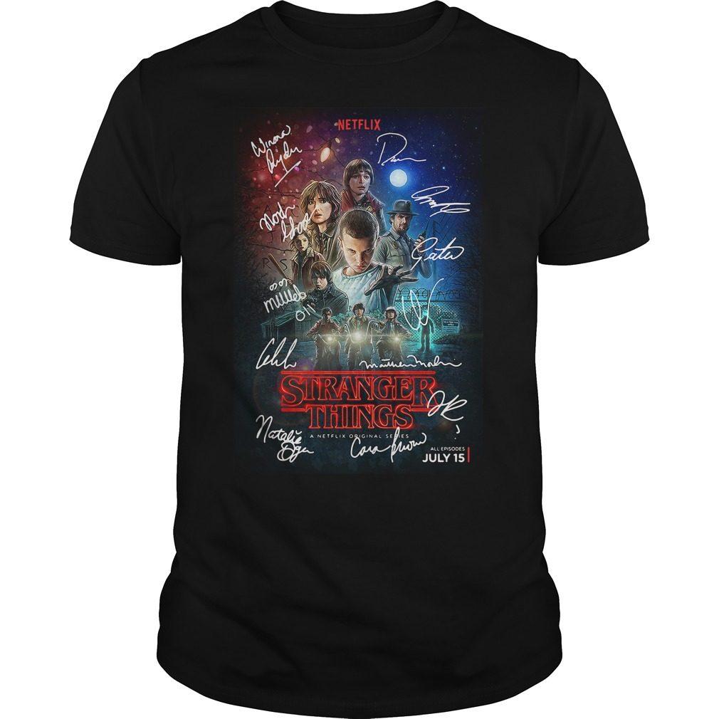 Signed Stranger Things Poster Shirt
