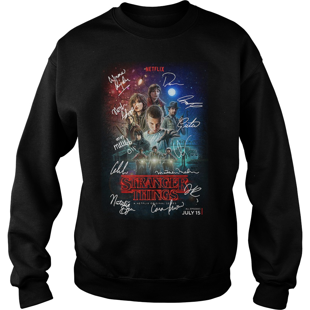 Signed Stranger Things Poster Sweater