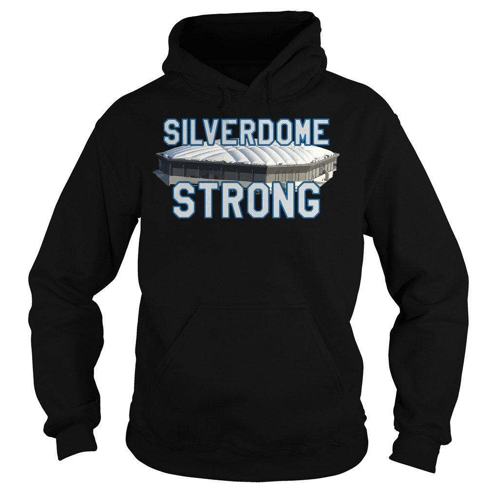 Silverdome Strong Legendary Pontiac Football Stadium Gear Hoodie