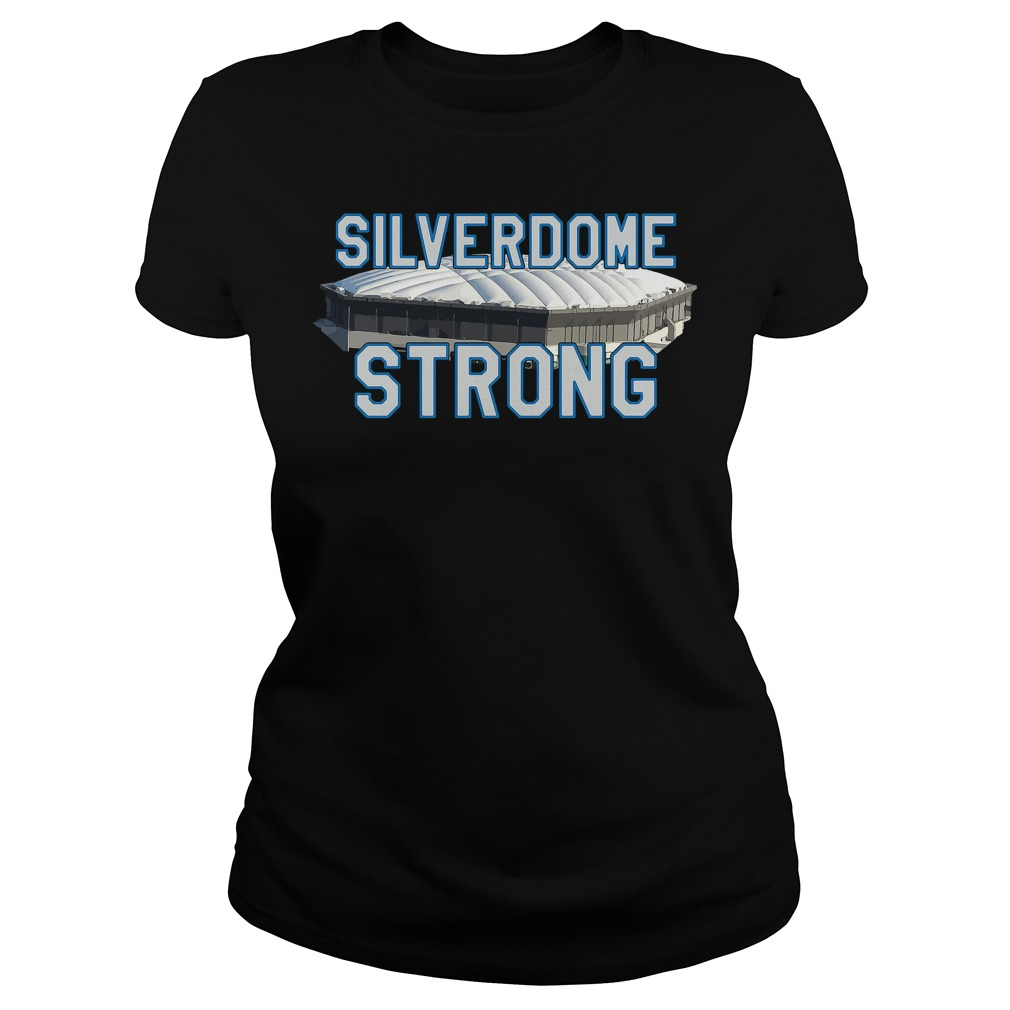Silverdome Strong Legendary Pontiac Football Stadium Gear Ladies Tee
