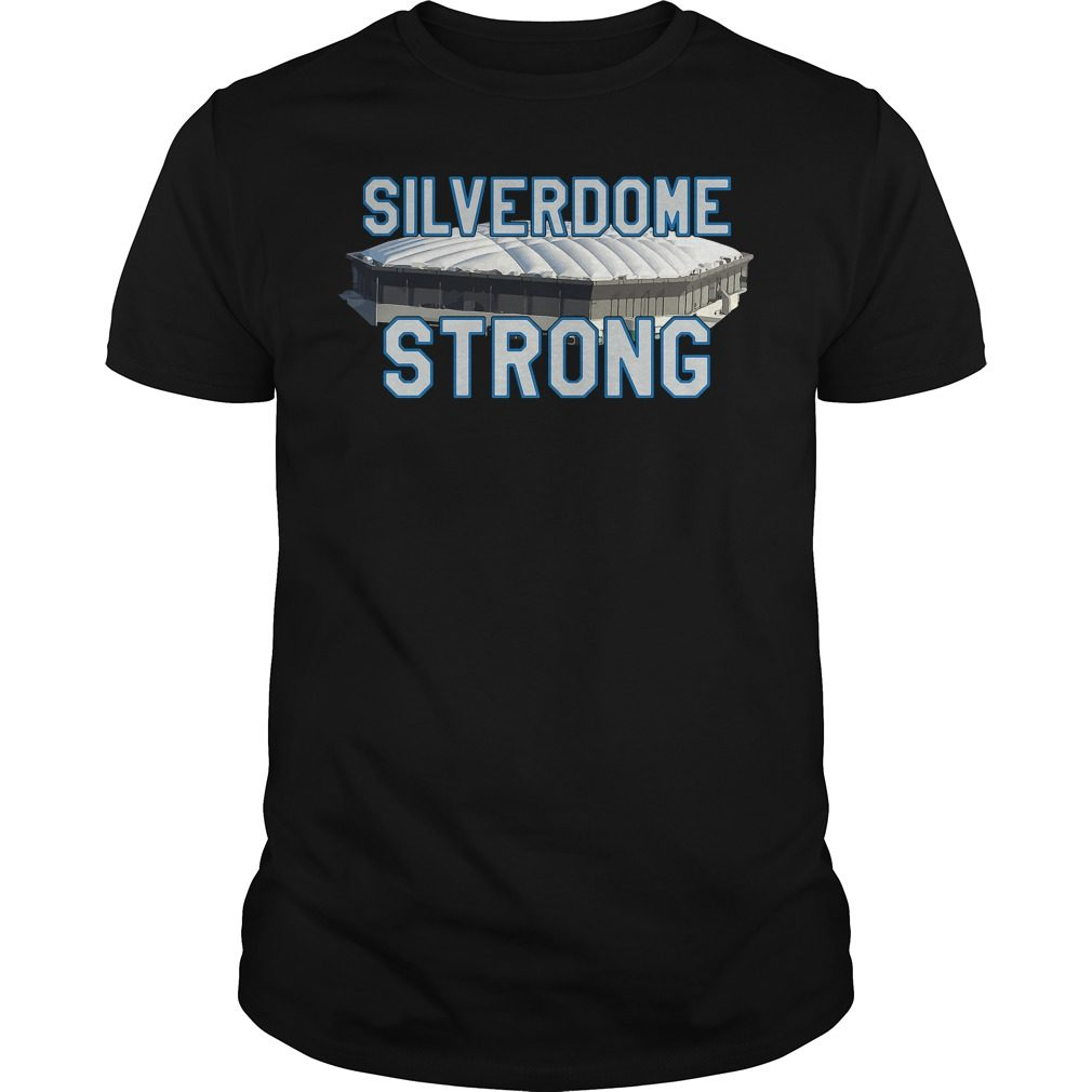 Silverdome Strong Legendary Pontiac Football Stadium Gear Shirt