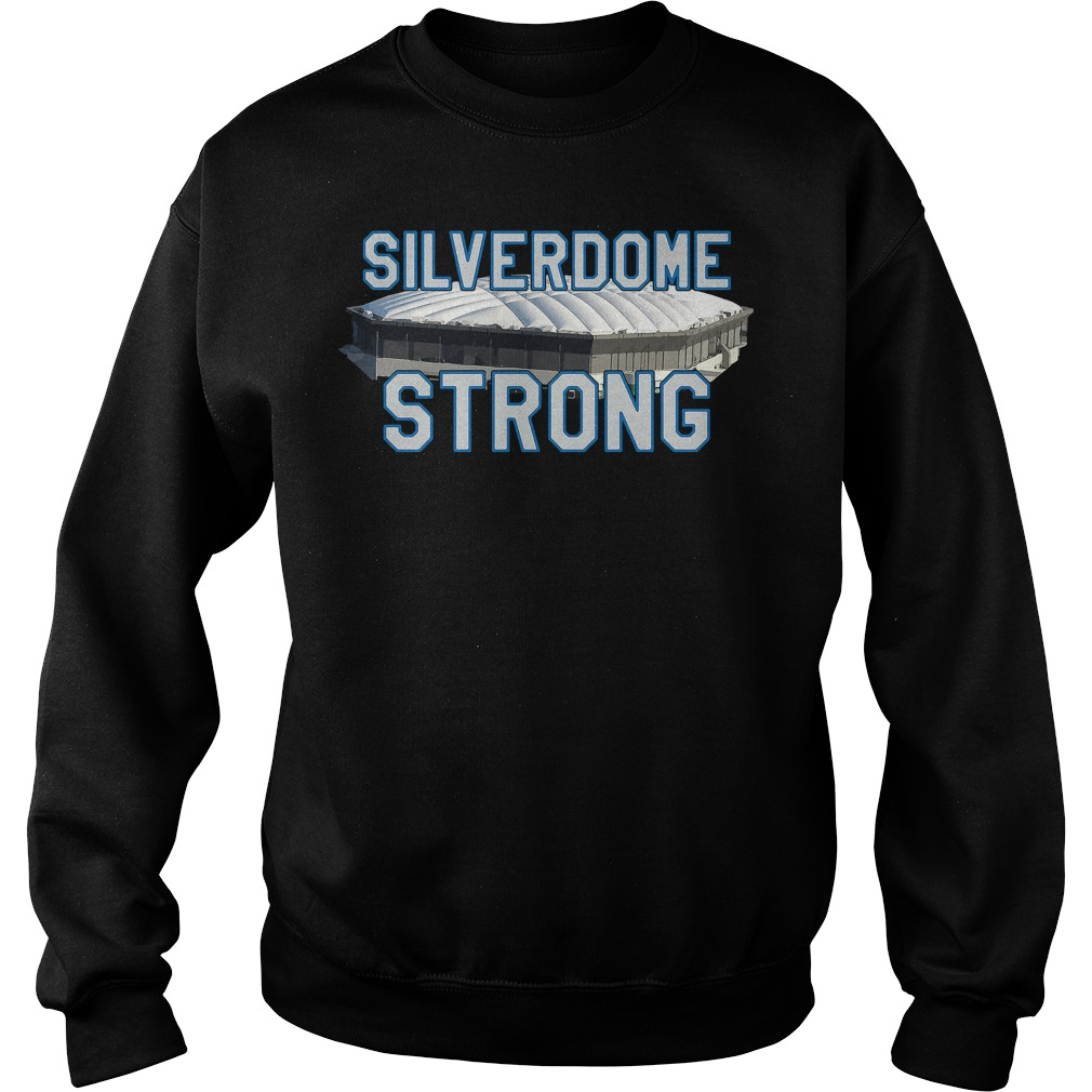 Silverdome Strong Legendary Pontiac Football Stadium Gear Sweater