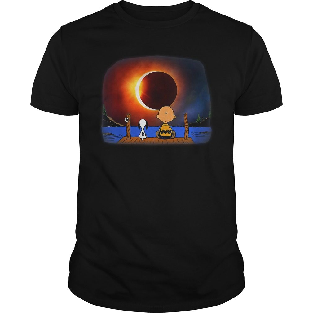 Snoopy Charlie Brown Solar Eclipse 2018 Shirt