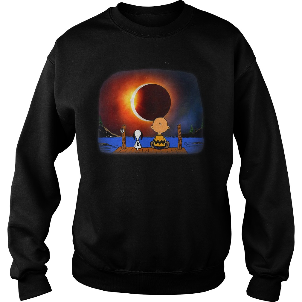 Snoopy Charlie Brown Solar Eclipse 2018 Sweater