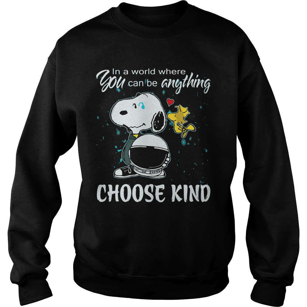 Snoopy World Can Anything Choose Kind Sweater