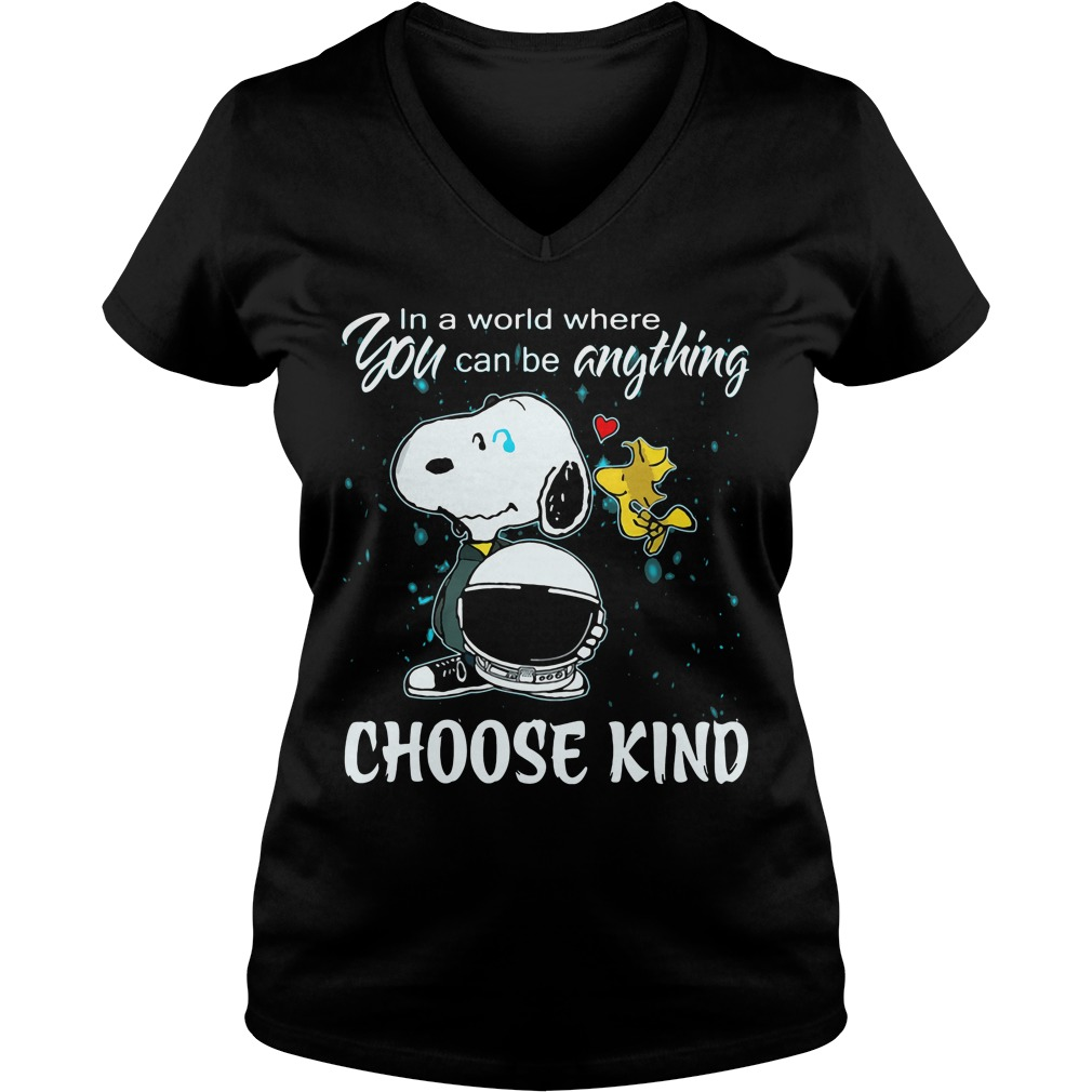 Snoopy World Can Anything Choose Kind V Neck T Shirt
