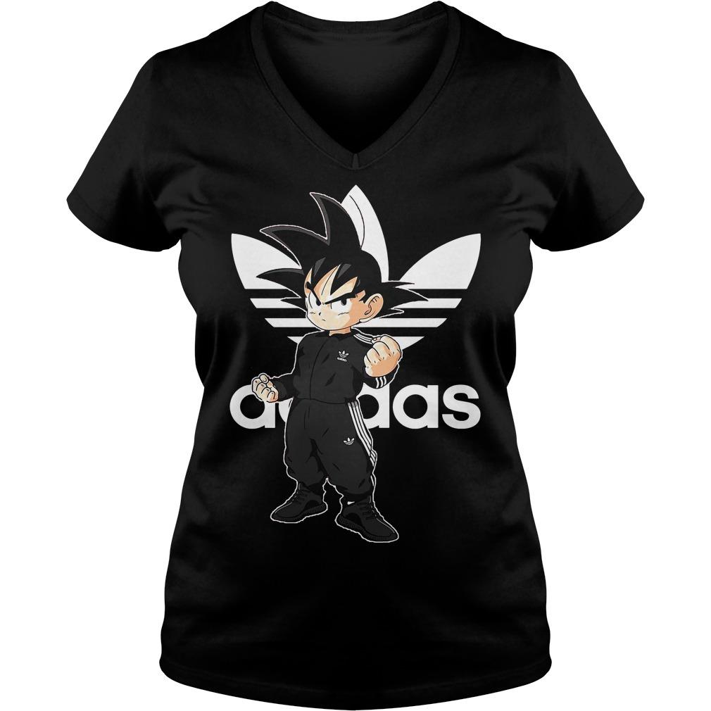 Songoku Kid Adidas V Neck T Shirt