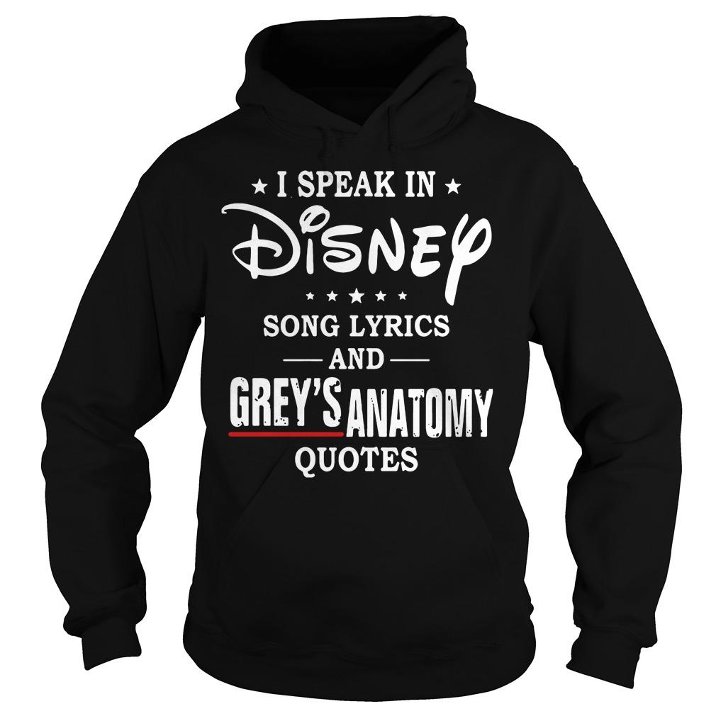 Speak Disney Song Lyrics Greys Anatomy Quotes Hoodie