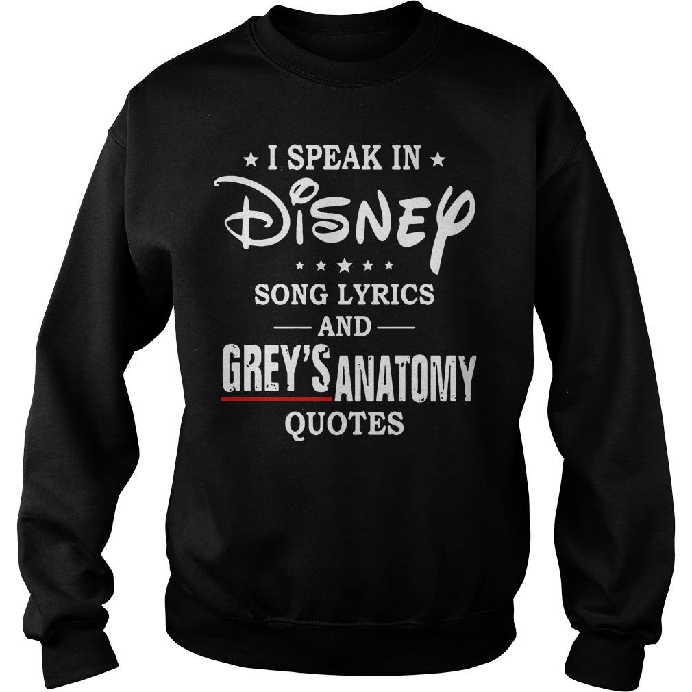 Speak Disney Song Lyrics Greys Anatomy Quotes Sweater