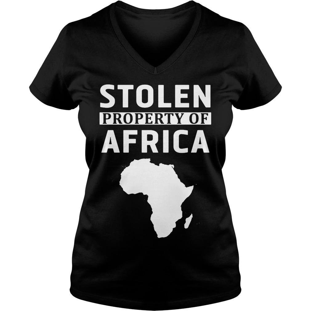 Stolen Property Africa V-neck t-shirt
