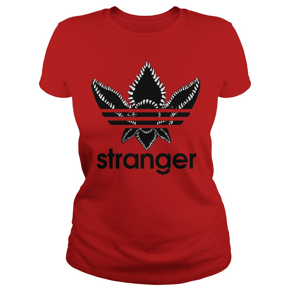 Stranger Things Adidas Black Logo Ladies Tee