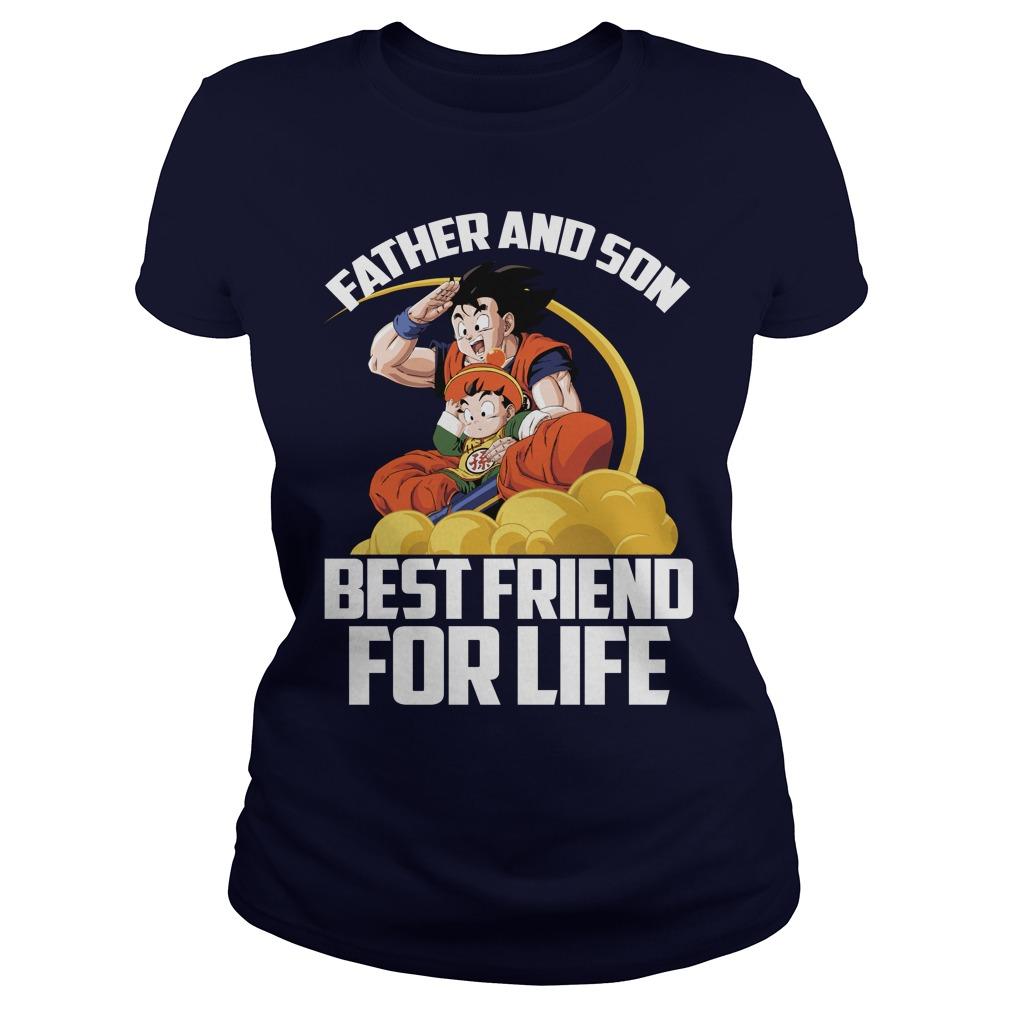 Super Saiyan Goku Gohan Father Son Ladies Tee