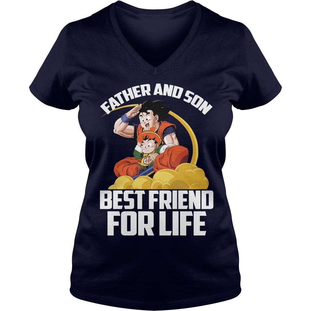 Super Saiyan Goku Gohan Father Son V Neck T Shirt