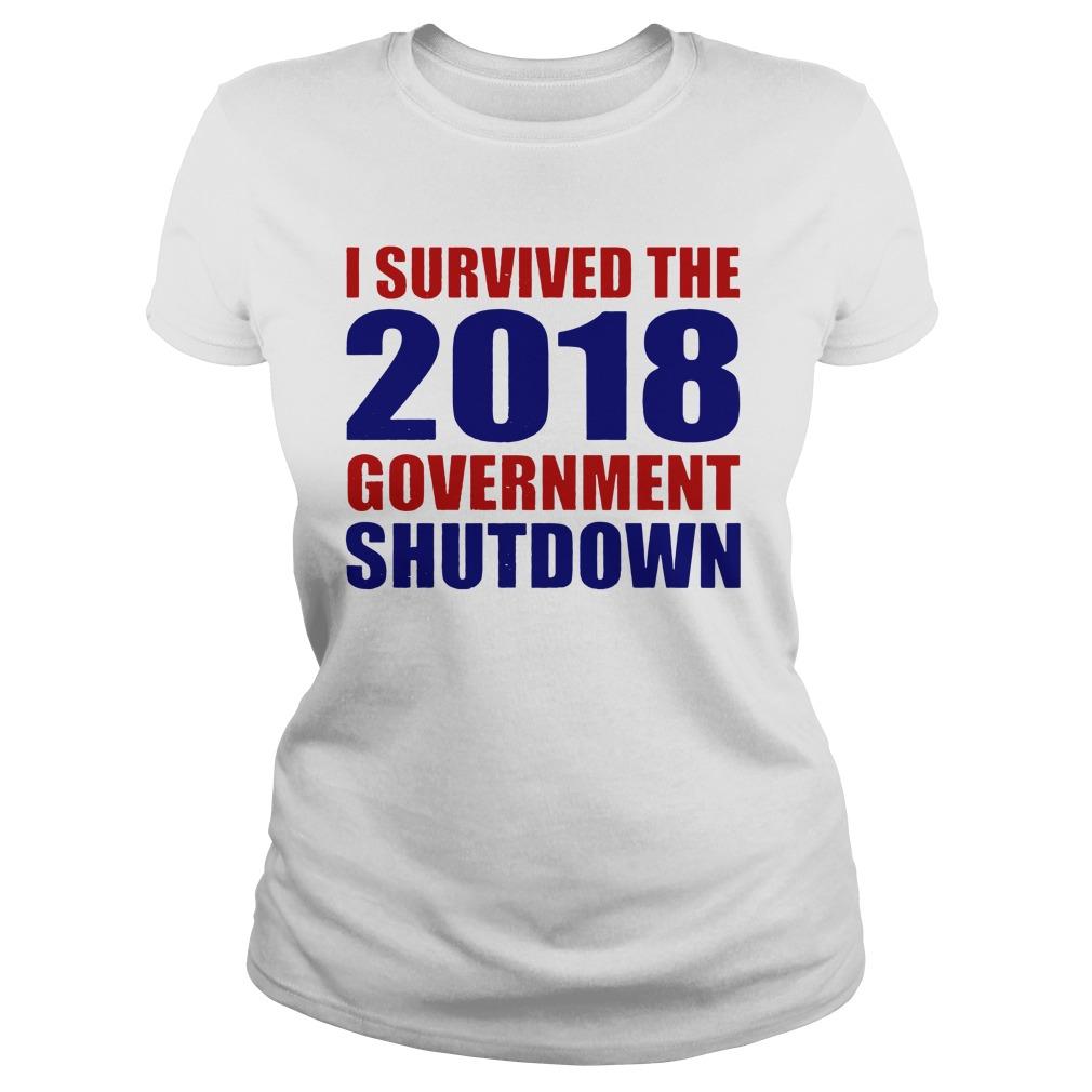Survived 2018 Government Shutdown Ladies Tee
