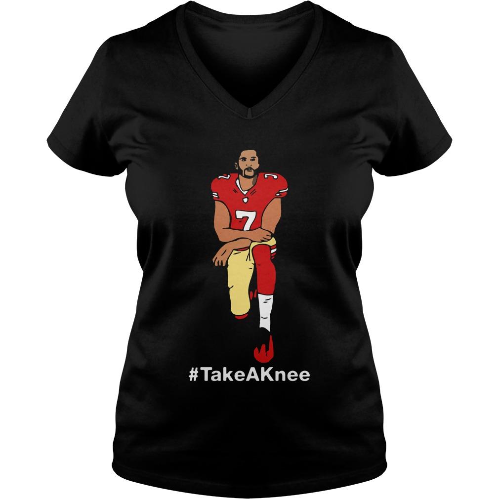 Take A Knee Colin Kaepernick V-neck t-shirt