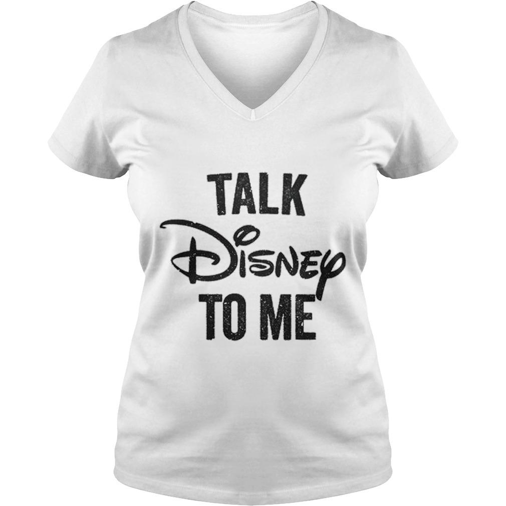 Talk Disnep V-neck t-shirt