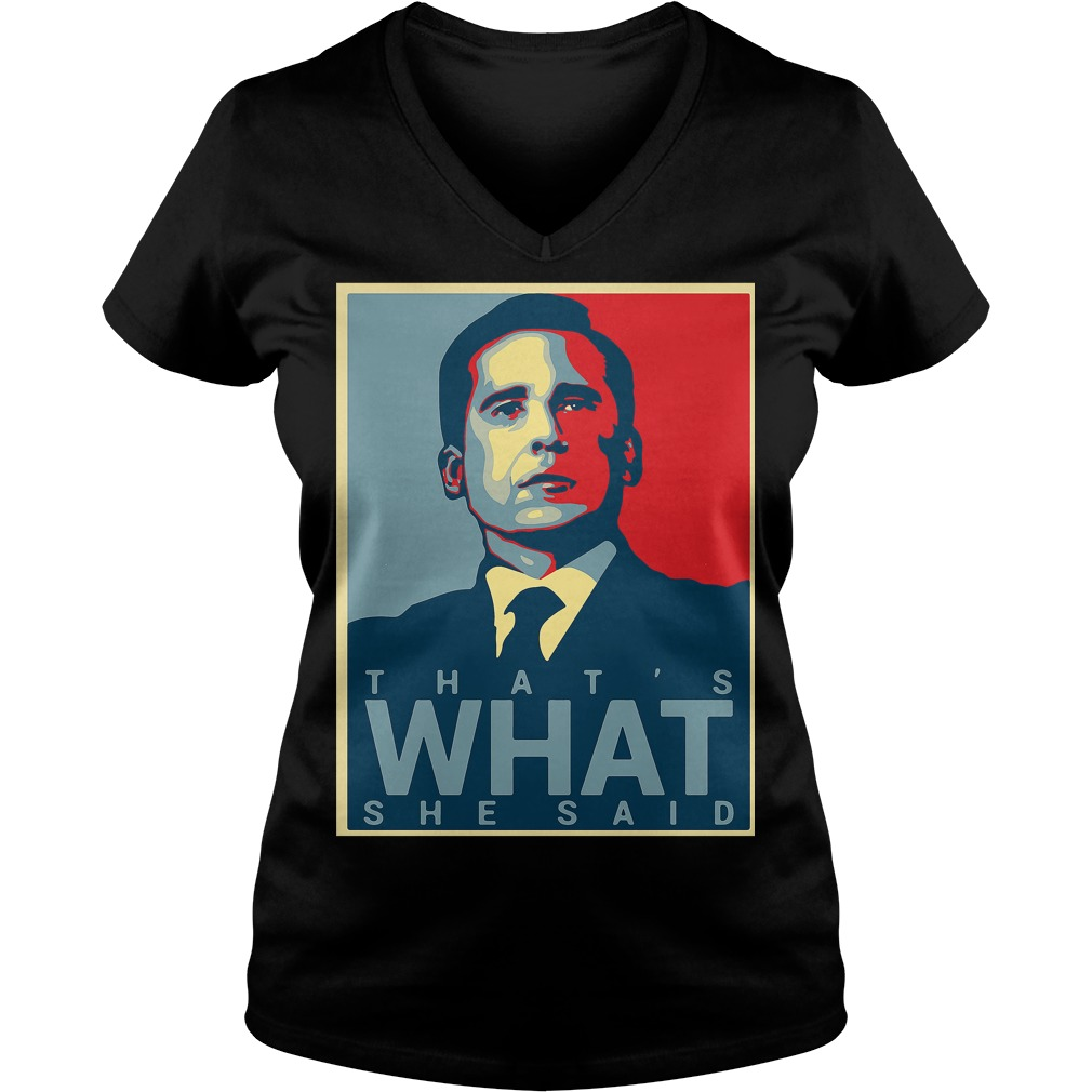 Thats Said Michael Scott Office Us V Neck T Shirt
