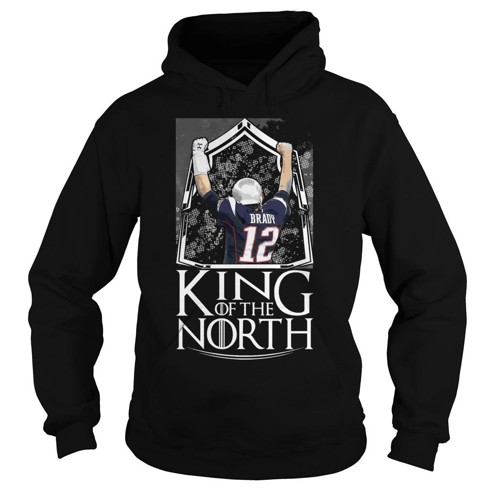 Tom Brady 12 King Of The North New England Patriots Hoodie
