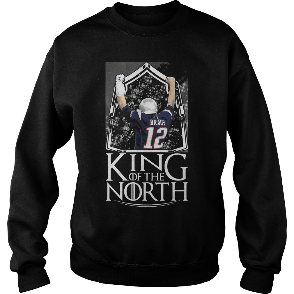 Tom Brady 12 King Of The North New England Patriots Sweater