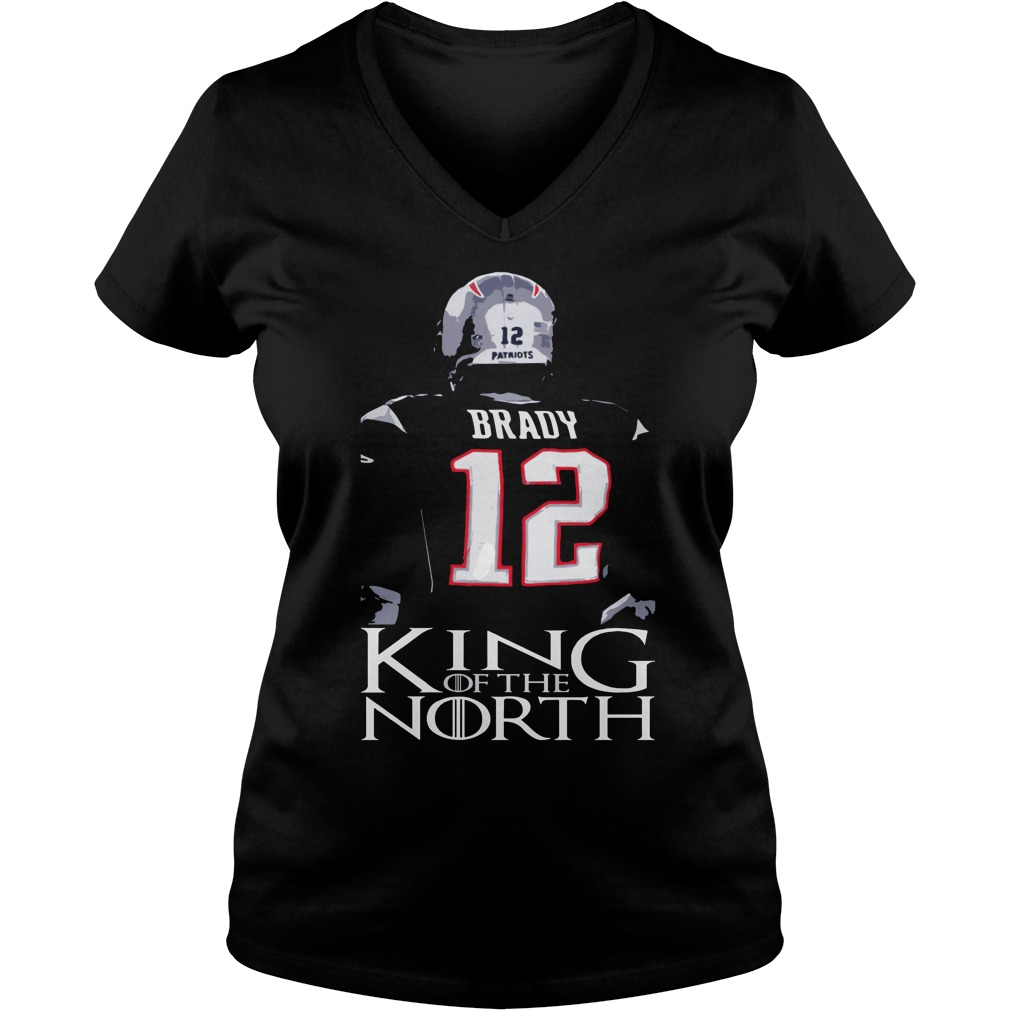 Tom Brady 12 King Of The North Shirt New England Patriots V-neck t-shirt