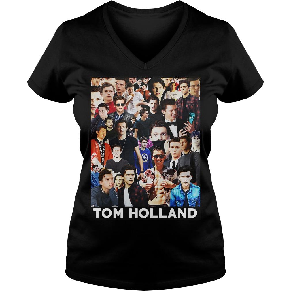 Tom Holland Spider Man V Neck T Shirt