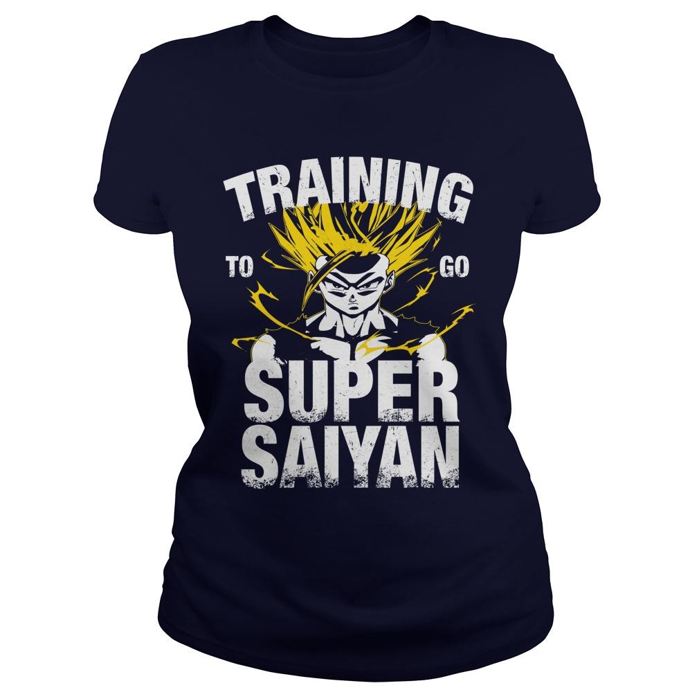 Training Go Super Saiyan Gohan Ladies Tee