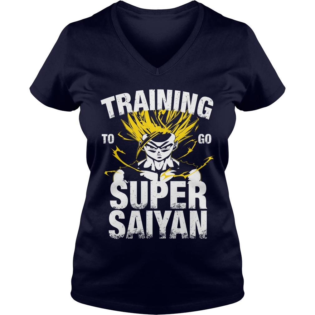 Training Go Super Saiyan Gohan V-neck t-shirt