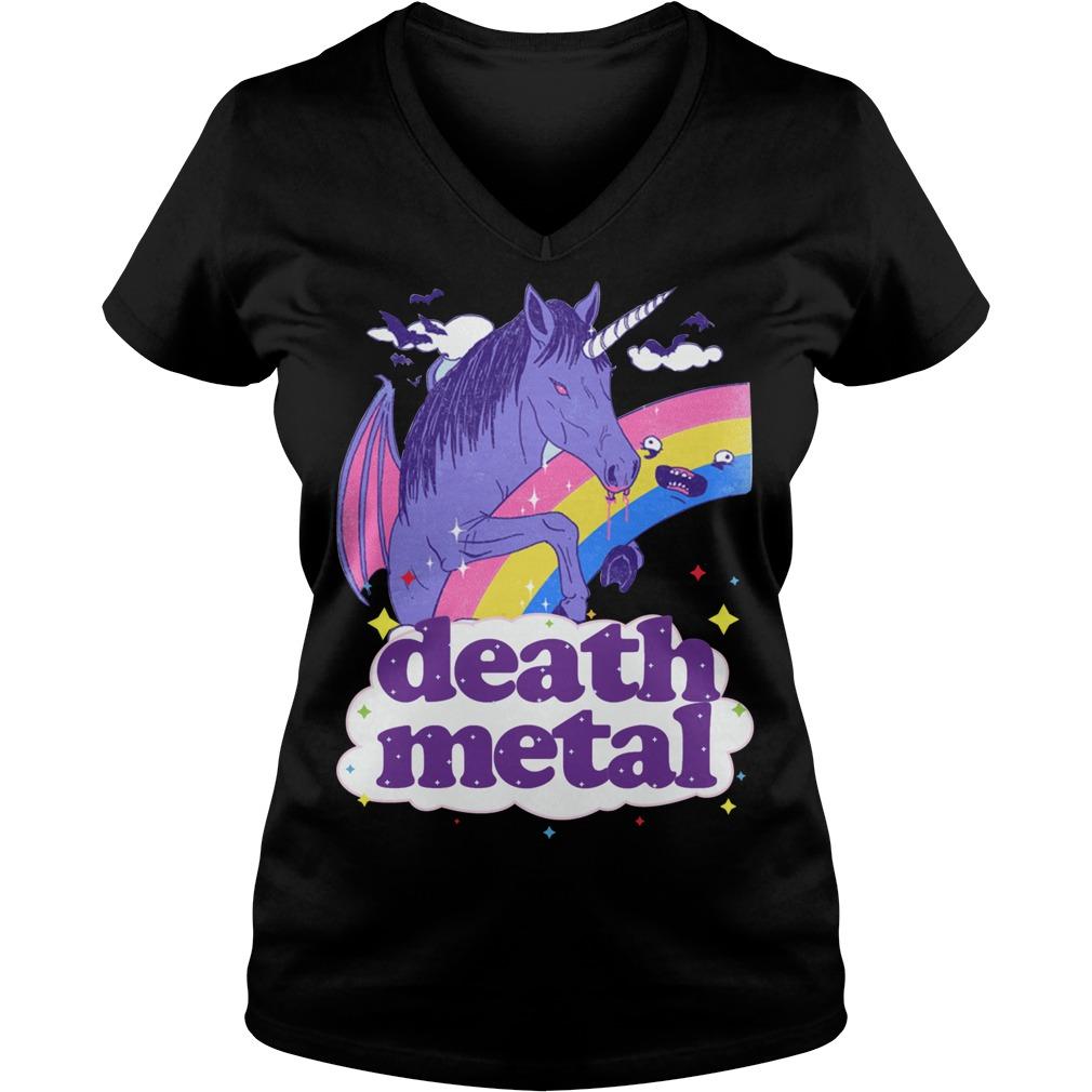 Vampcorn Death Metal V Neck T Shirt