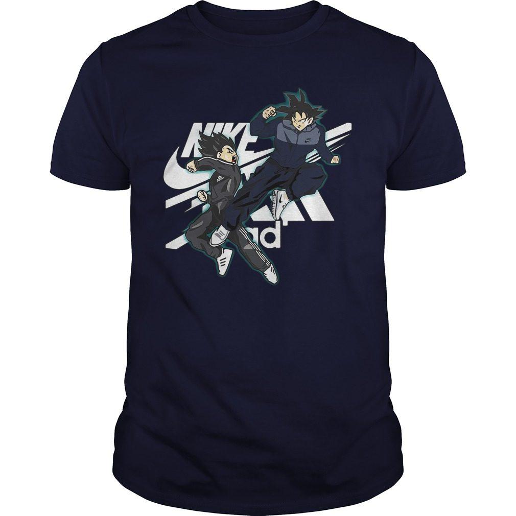 Vegeta Adidas Vs Songoku Nike Shirt