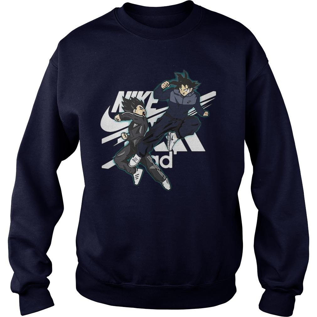 Vegeta Adidas Vs Songoku Nike Sweater