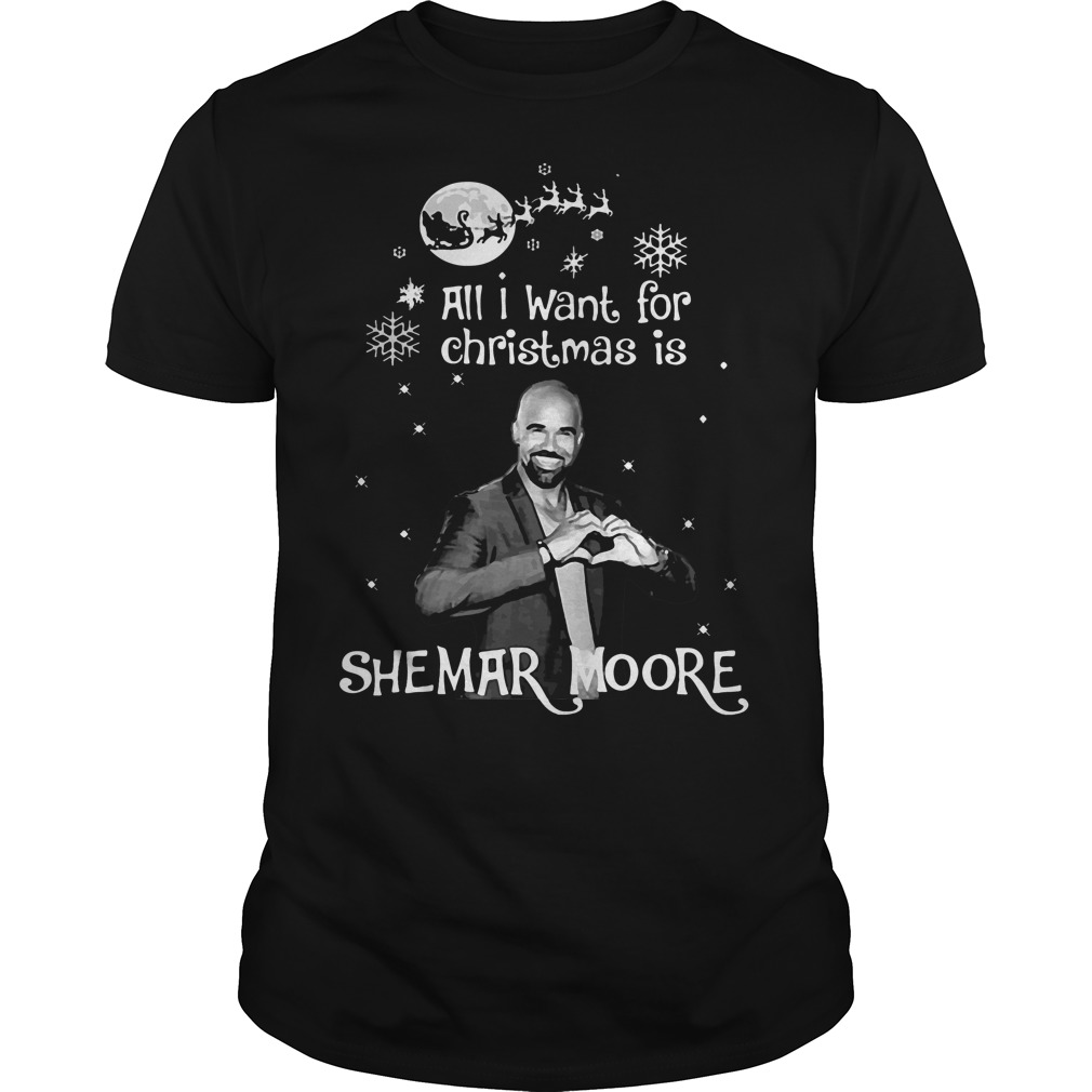 Want Christmas Shemar Moore Guys Shirt