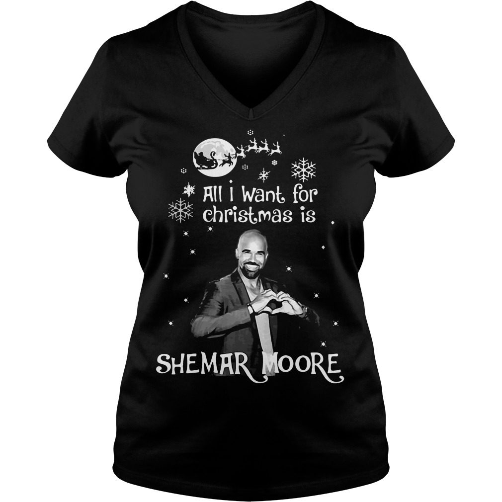 Want Christmas Shemar Moore V Neck T Shirt