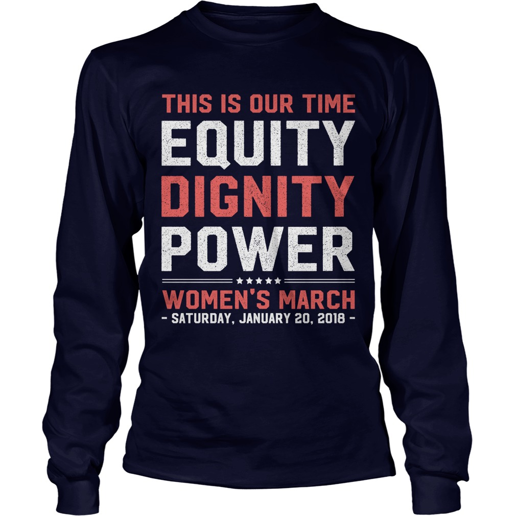 Womens March 2018 Feminist Longsleeve Tee