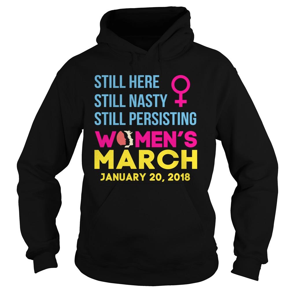 Womens March January 20 2018 Nasty Hoodie