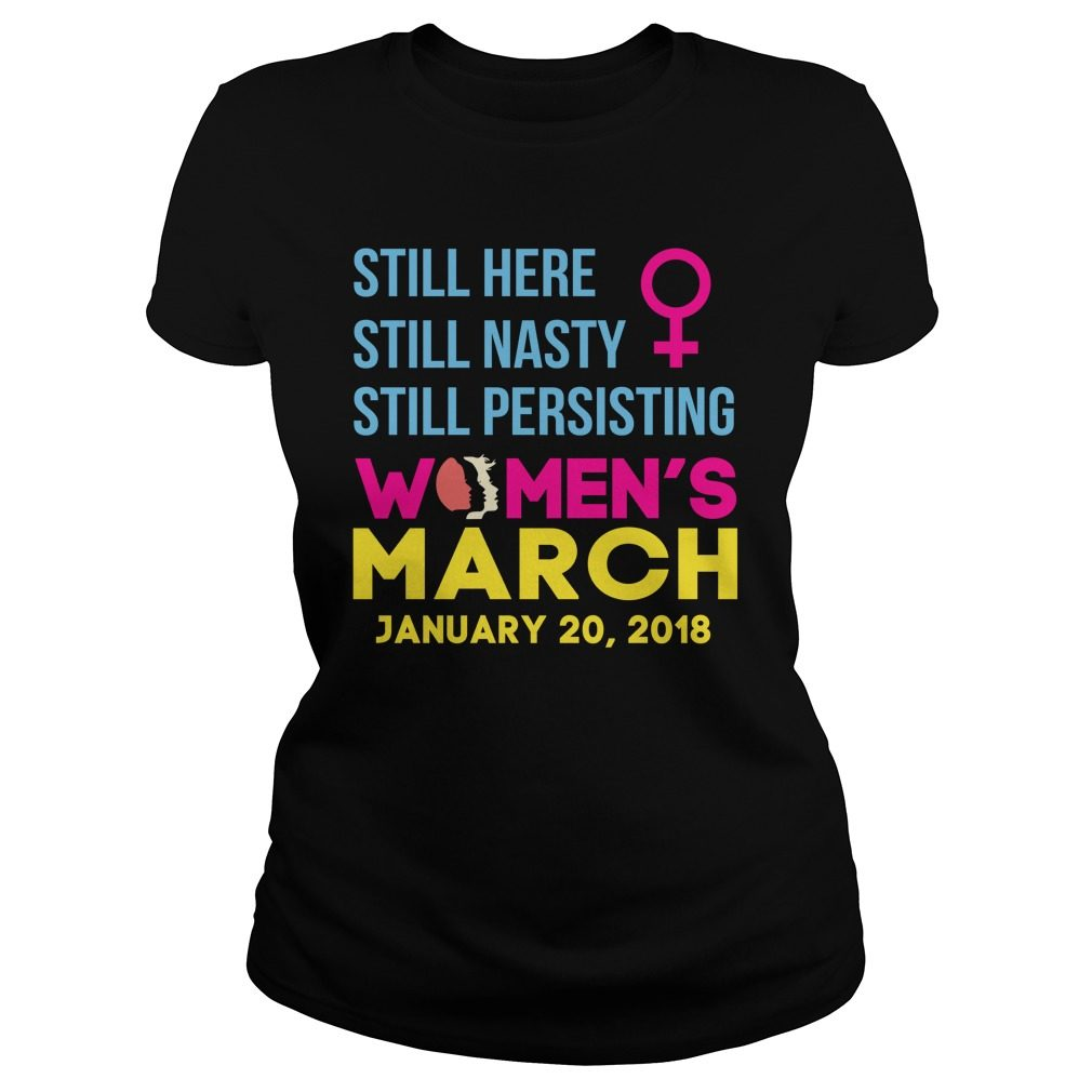 Womens March January 20 2018 Nasty Ladies Tee