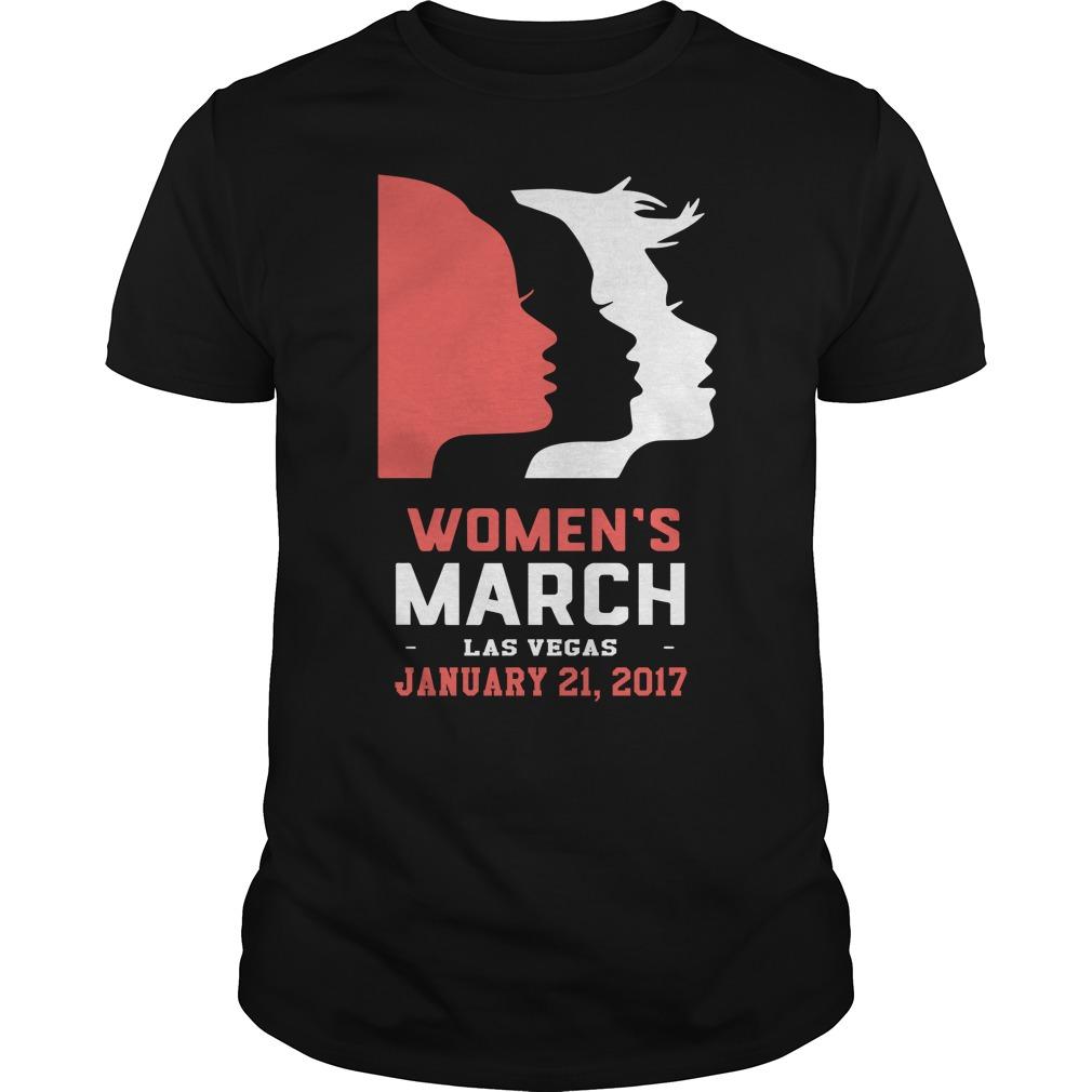 Womens March Las Vegas January 21 2017 Guys Shirt