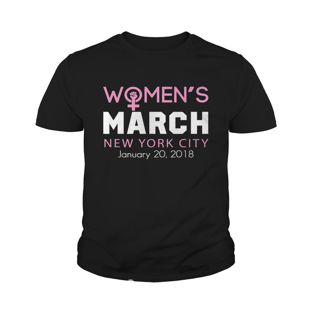 Womens March New York City January 20 2018 Youth Tee