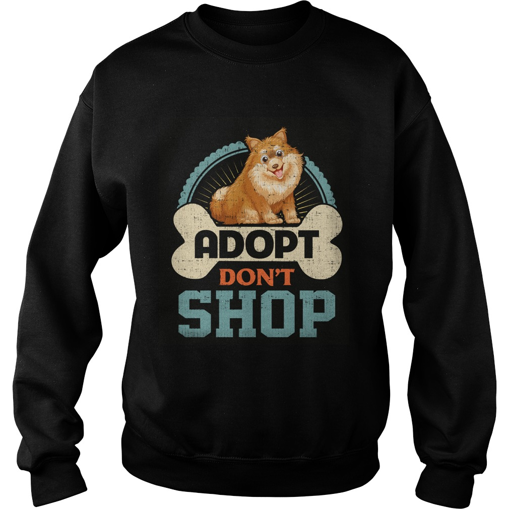 Adopt Dont Shop Pro Pet Rescue Tee Pomeranian Puppy Dog Sweater