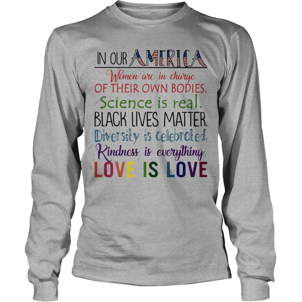 America Women Charge Bodies Science Real Longsleeve Tee