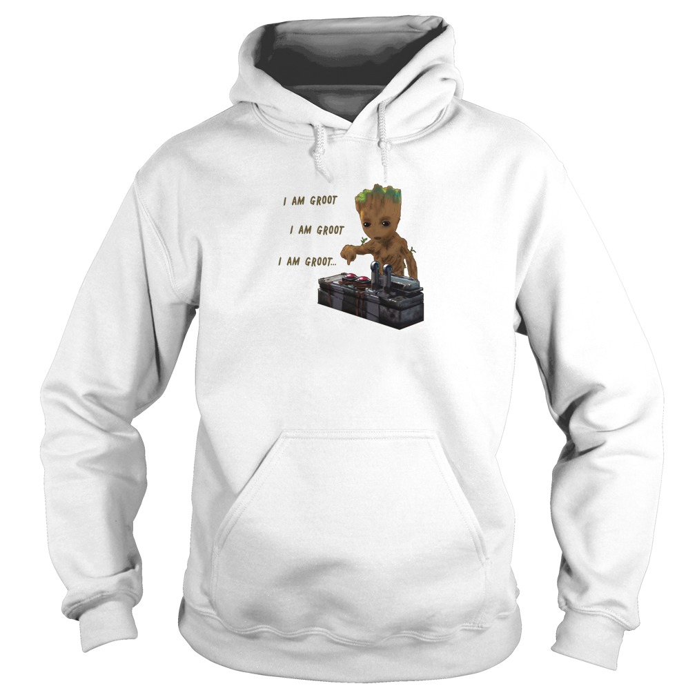 Baby Groot Dead Button Hoodie