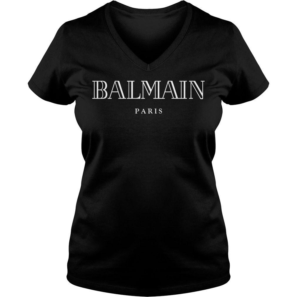 Balmain Paris V Neck T Shirt