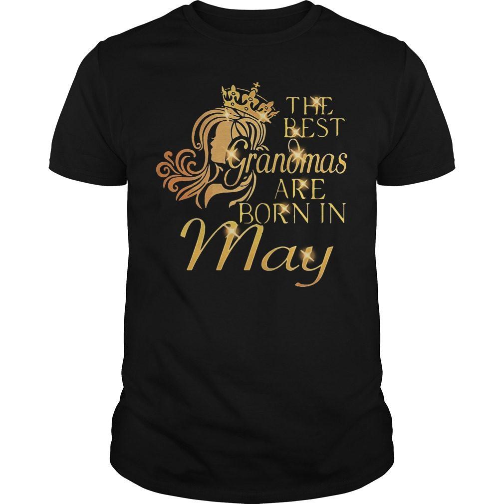 Best Grandmas Born May Guys Shirt