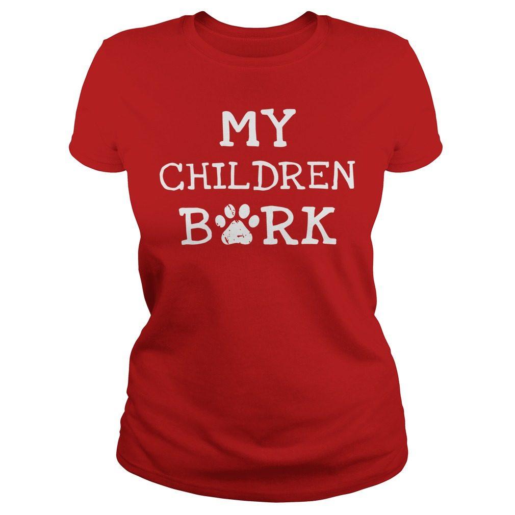 Children Bork Dog Ladies Tee