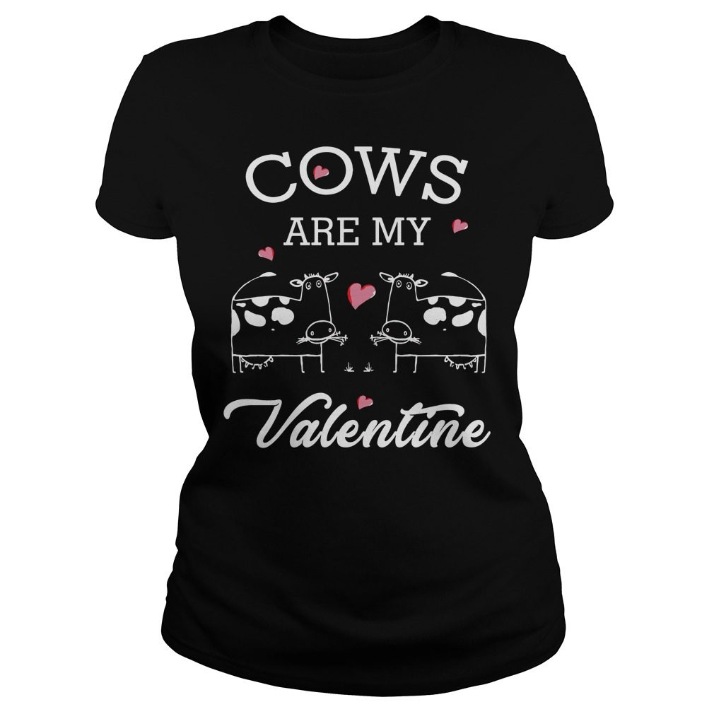 Cows Valentine Ladies Tee