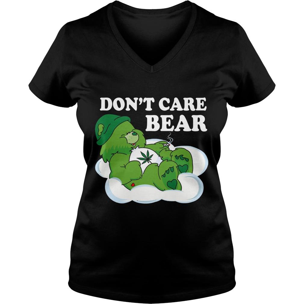 Dont Care Bear V Neck T Shirt